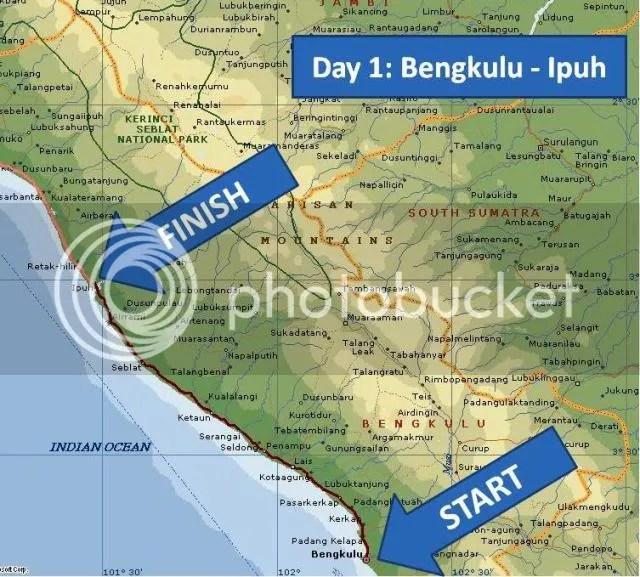 Day 1 - Bengkulu - Ipuh Map