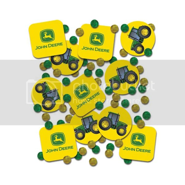 John Deere Farm Tractor Birthday Party Table Decoration Sprinkle Confetti