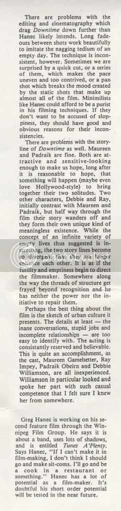 downtime greg hanec 1985 article city magazine