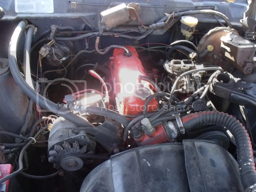 hight resolution of the radiator hose is on the same side as an iron duke opposite of a