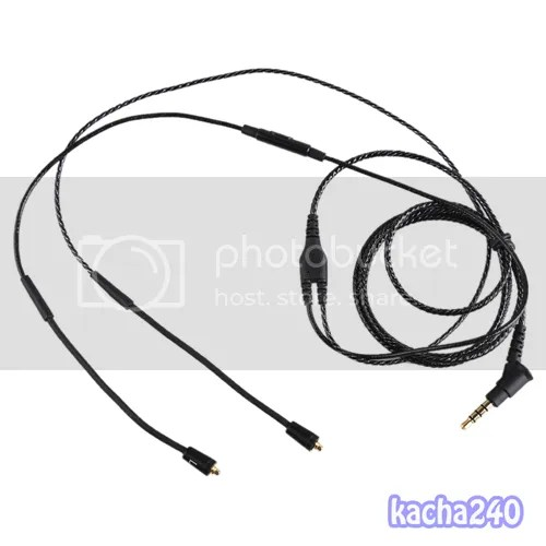 Replacement cable with mic for SHURE SE535 SE425 SE315