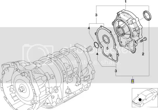 BMW E53 X5 output shaft gasket & seal set 24117557050