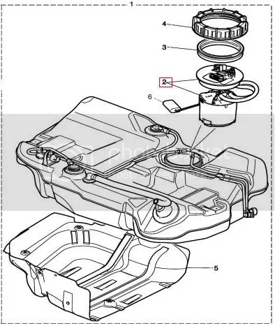 Jaguar X-Type Diesel fuel tank sender unit assembly NEW