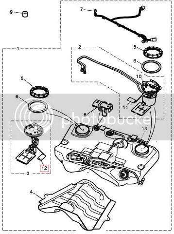 Jaguar X-Type 2.5 3.0 Petrol jet pump fuel sender sensor