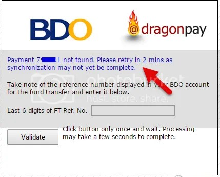 DragonPay payment not found