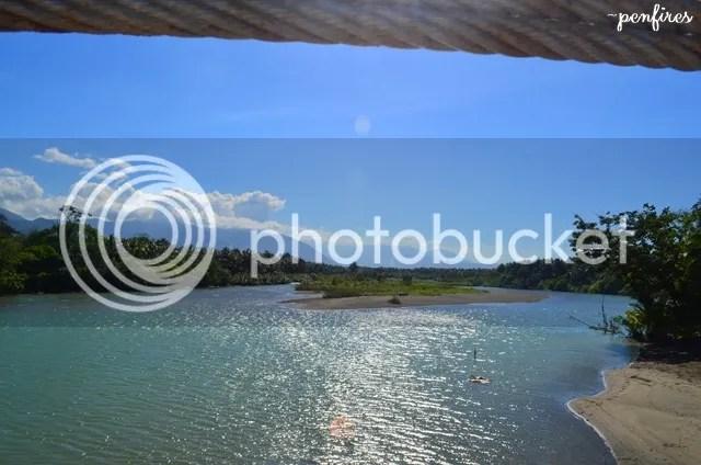 Baler hanging bridge river