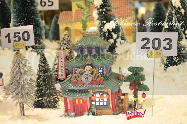 miniature christmas village chinese