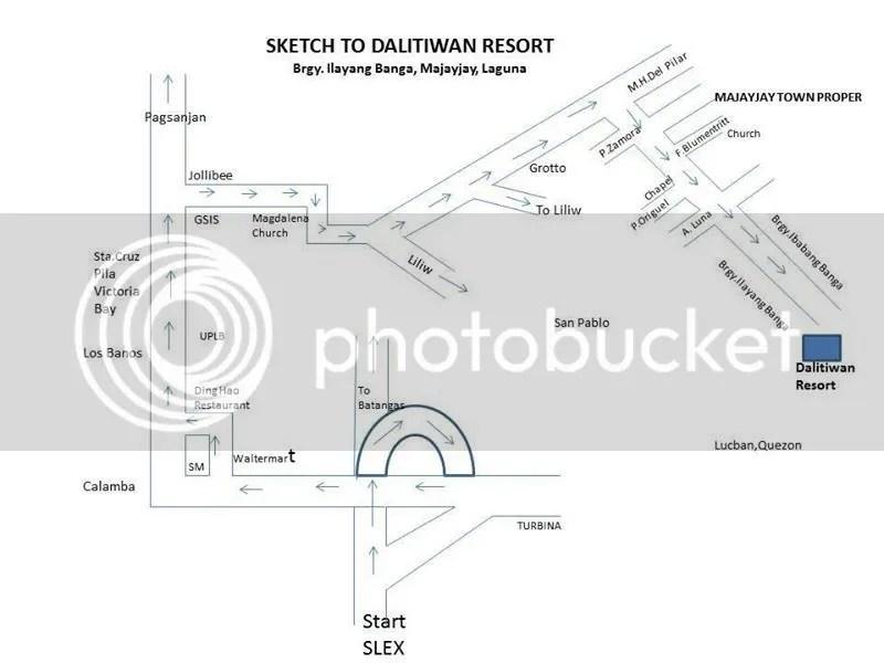 Dalitiwan Resort Direction Guide