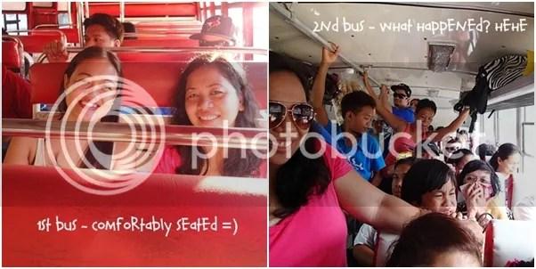 Bus ride to Kawasan in Badian