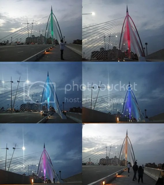 Seri Wawasan Bridge Color Change