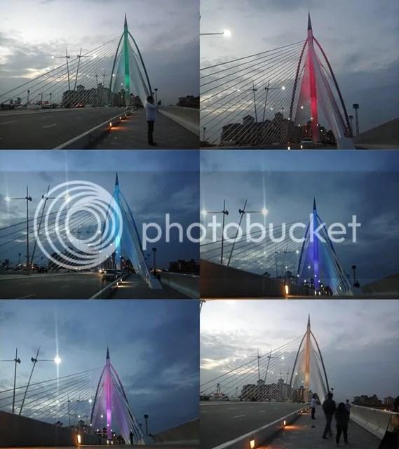 Seri Wawasan Bridge Color Change