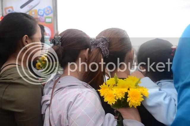 Sto Nino Devotees with flowers