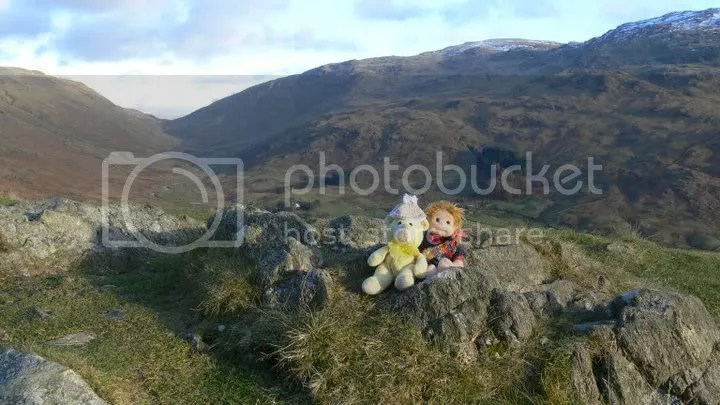 At the highest point at Hardknott Pass
