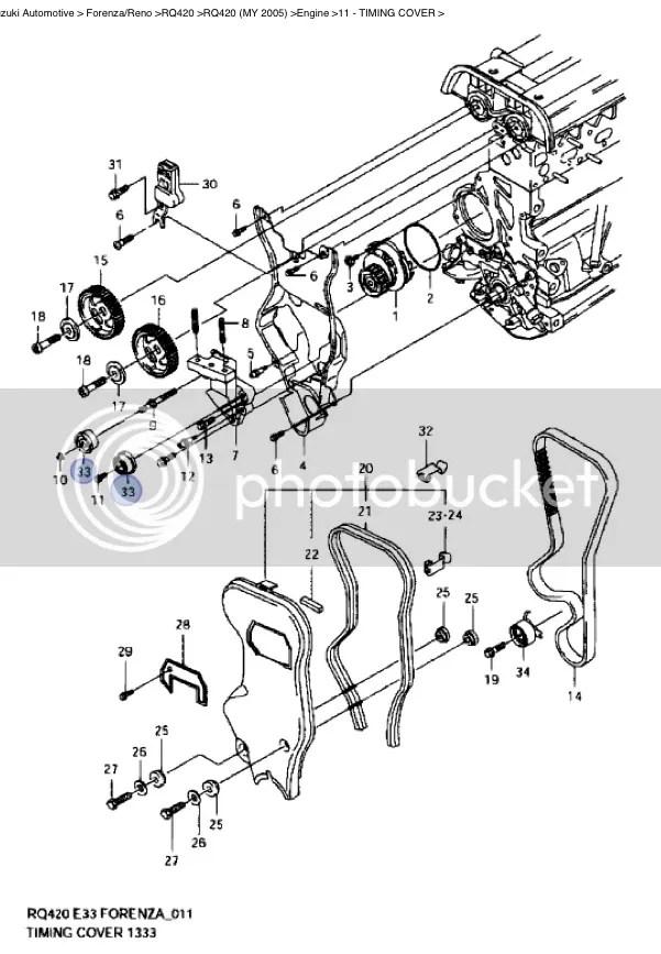 Suzuki Forenza/Reno 2004-2008 Timing Belt Idler Pulley