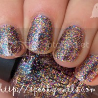 Glitter week day 7 1/2 - OPI Sparkle-icious + my glitter collection :-) (pics heavy)