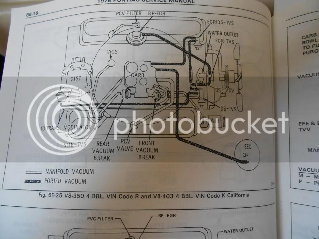 Vacuum Hose Routing Diagram Further 1978 Pontiac 400 Vacuum Line
