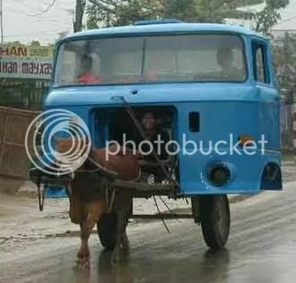 kereta lembu, kereta lembu canggih ,kerta tanpa engin, kereta laju, kereta kelakar
