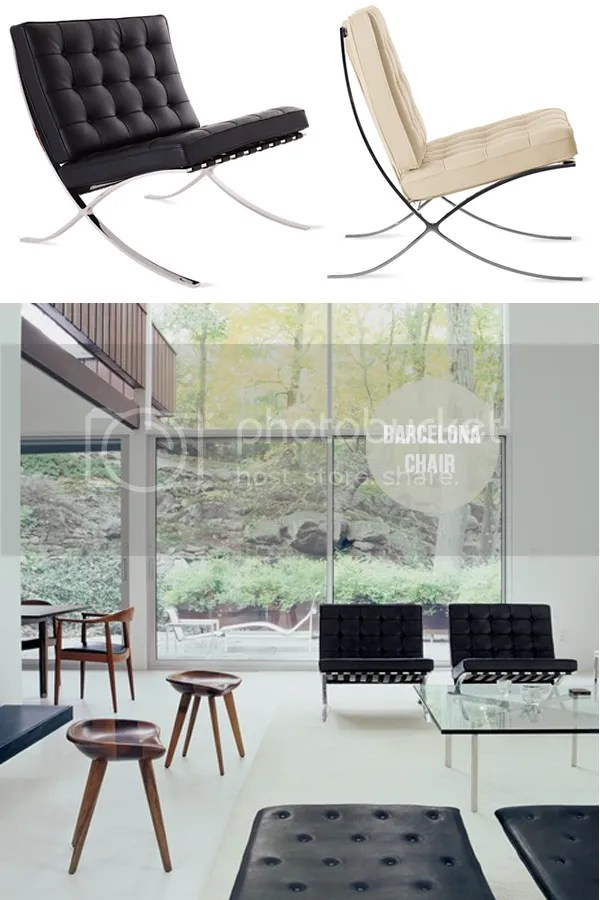 Furniture 101: Barcelona Chair via Oh I Design