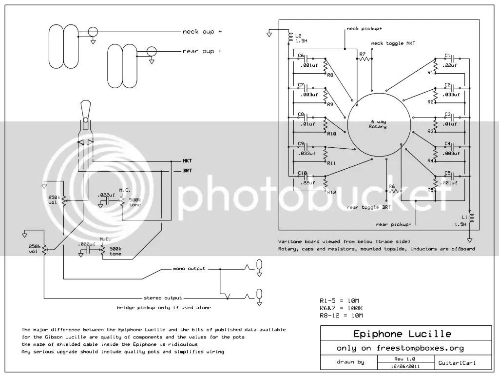 gibson guitar wiring diagrams 6 wire trailer plug diagram lucille varitone 38