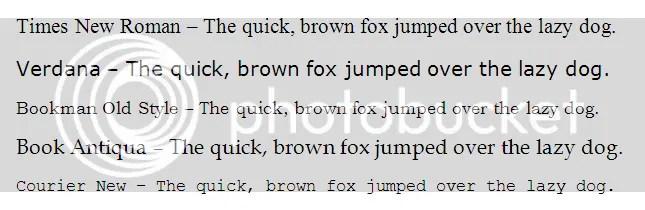 Nice Fonts