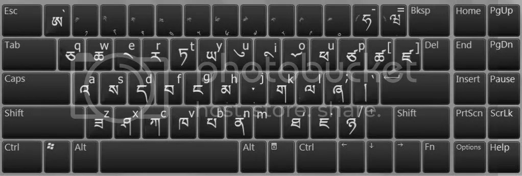 Layout of Tibetan Keyboard on Windows 7 – 廣府話小研究
