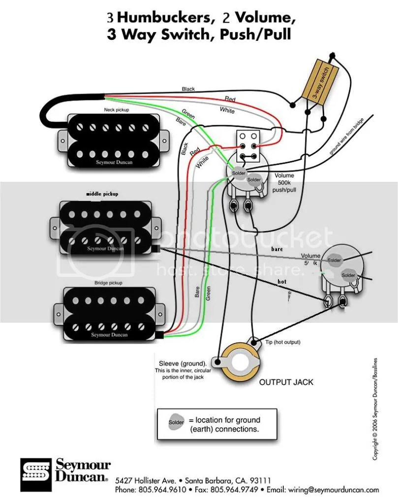 wiring diagram 3 humbucker les paul wiring diagram hub 3 humbucker wiring diagram wiring diagram source [ 809 x 1023 Pixel ]