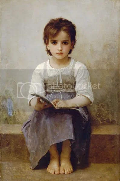 William Adolphe Bouguereau, The Difficult Lesson, 1884.