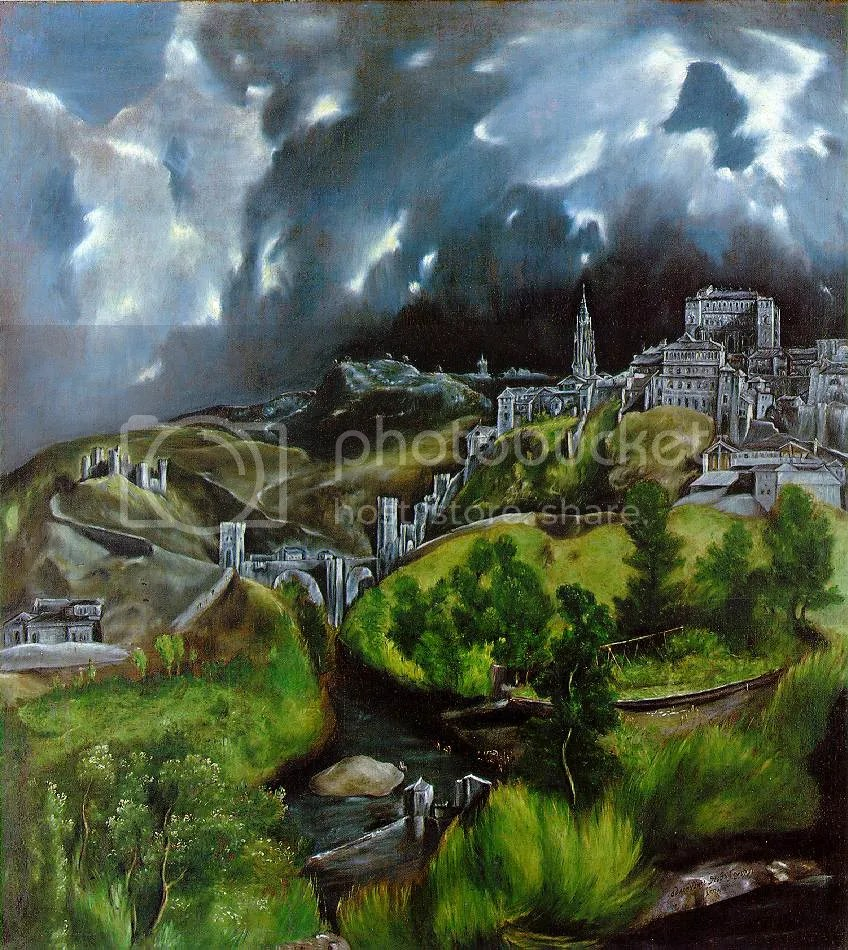 El Greco, View of Toledo, 1596.