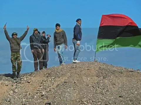 Libyan rebels. Source: Voice of America.