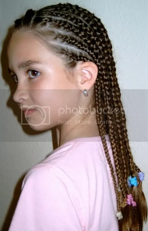 Photo of white girl cornrows.