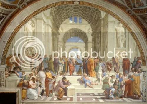 A Escola de Atenas - Afresco de Rafael