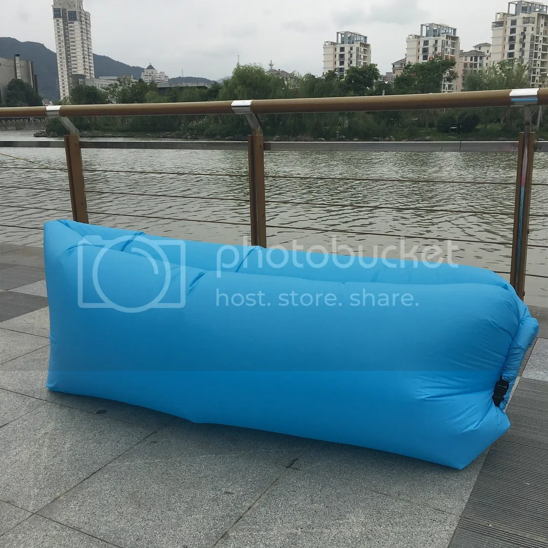 blow up beach chair long shower outdoor lazy inflatable couch air sleeping sofa lounger