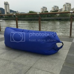 Inflatable Outdoor Sofa Chair How To Replace Lawn Webbing Lazy Couch Air Sleeping Lounger