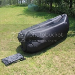 Inflatable Outdoor Sofa Chair Leveling Feet Lazy Couch Air Sleeping Lounger