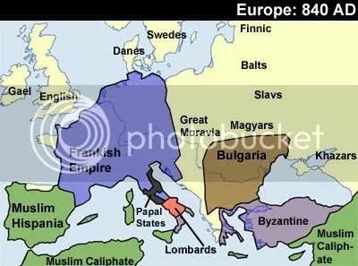 Europe 840 AD