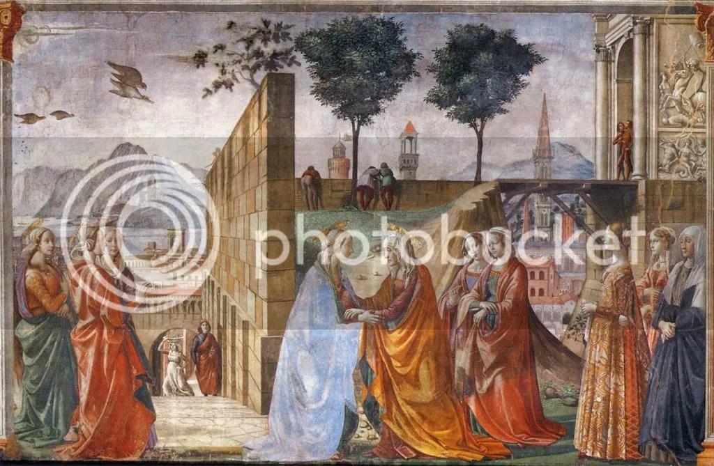 Domenico Ghirlandaio, Visitation, Santa Maria Novella
