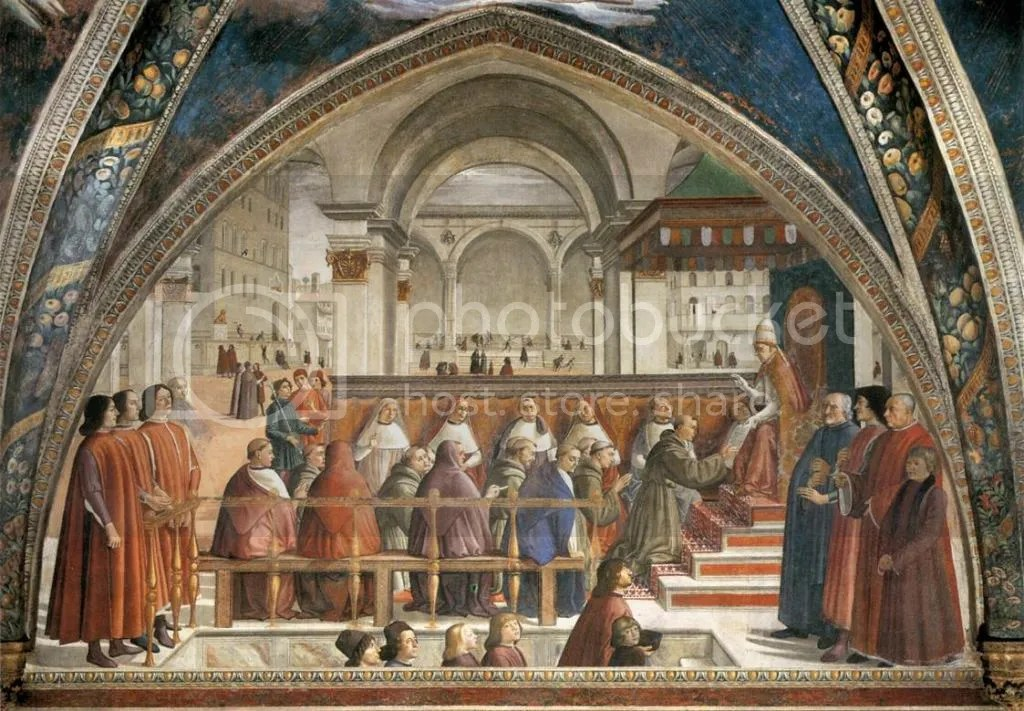 Domenico Ghirlandaio, The Confirmation of the Rule of St Francis, Santa Trinita