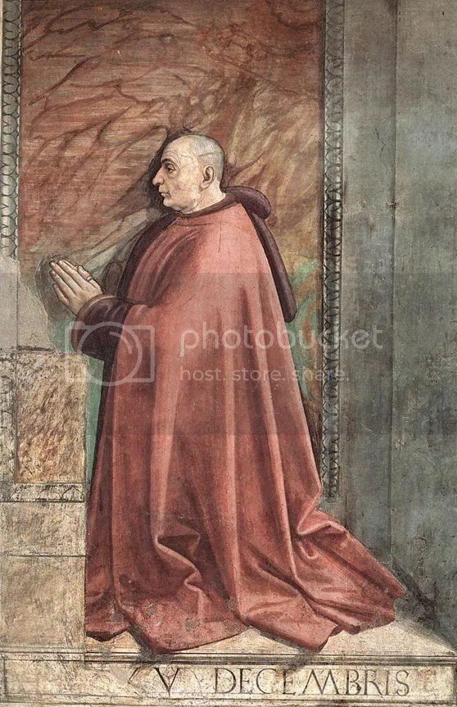 Domenico Ghirlandaio, Portrait of the Donor Francesco Sassetti, Santa Trinita