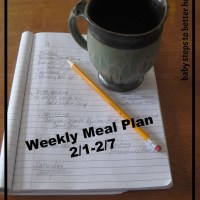 Weekly Meal Plan 2/1-2/7