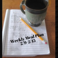 Weekly Meal Plan 2/9-2/15