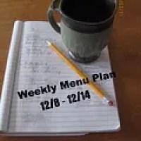 Weekly Menu 12/8-12/14