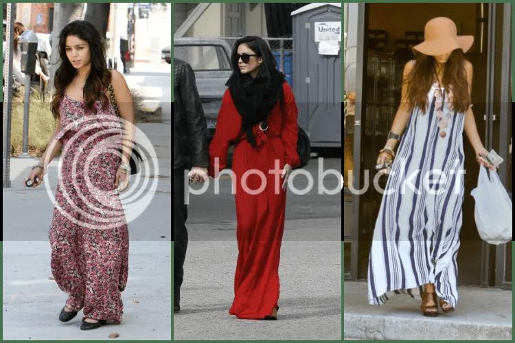 Vanessa Hudgens, 2013, outfits, style, celebrity, paparazzi, boho, maxi dress