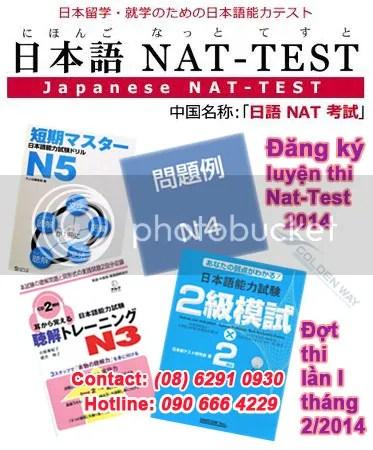 Thông Báo Mở Khóa Luyện Thi NAT-TEST – Đợt Thi Tháng 2/2014
