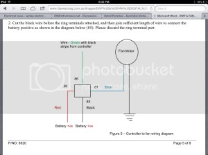 Electrical issue  wiring electric water pump and thermo fan