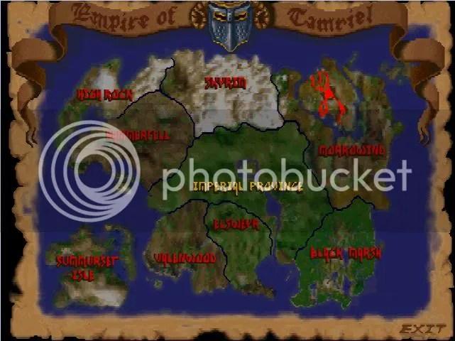 Arena - Map of Tamriel