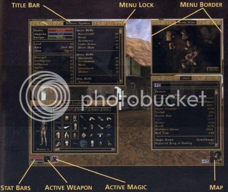 Morrowind - Interface