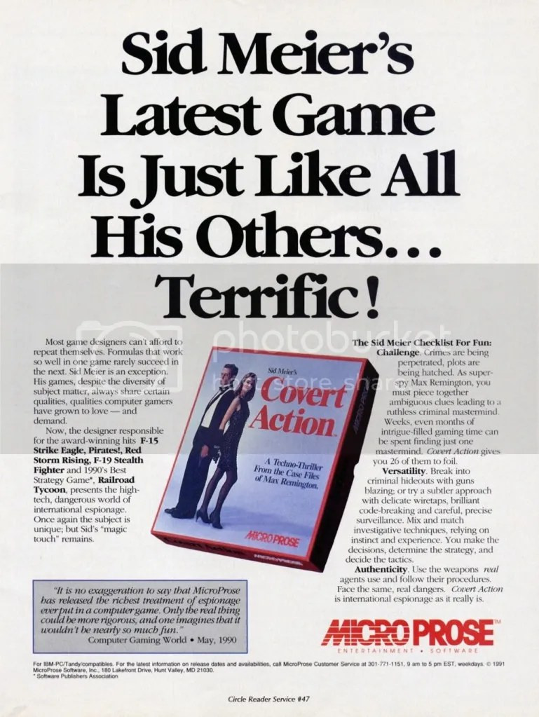 Covert Action ad 1991