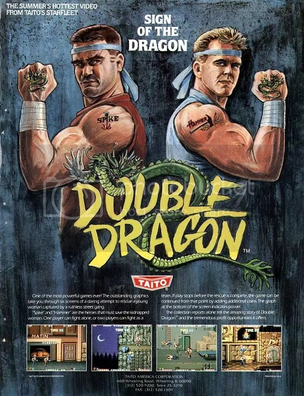 Arcade Beat Em Ups Of The Past Double Dragon World 1 1
