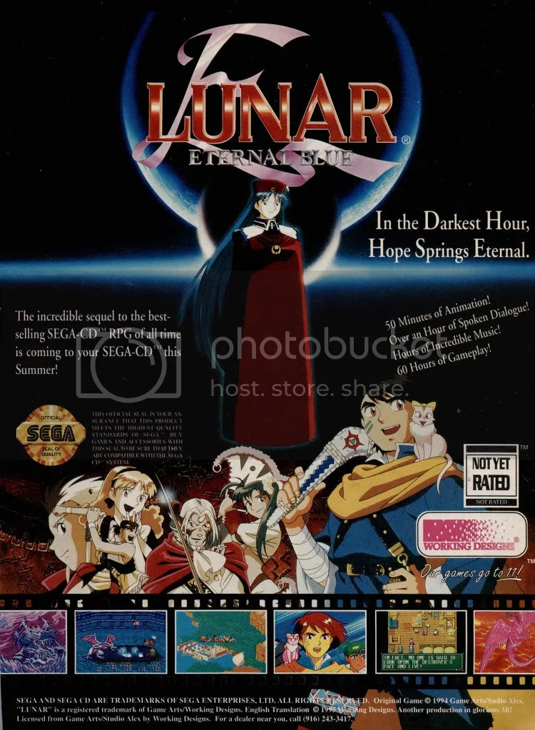 Lunar 2 ad for the Sega CD