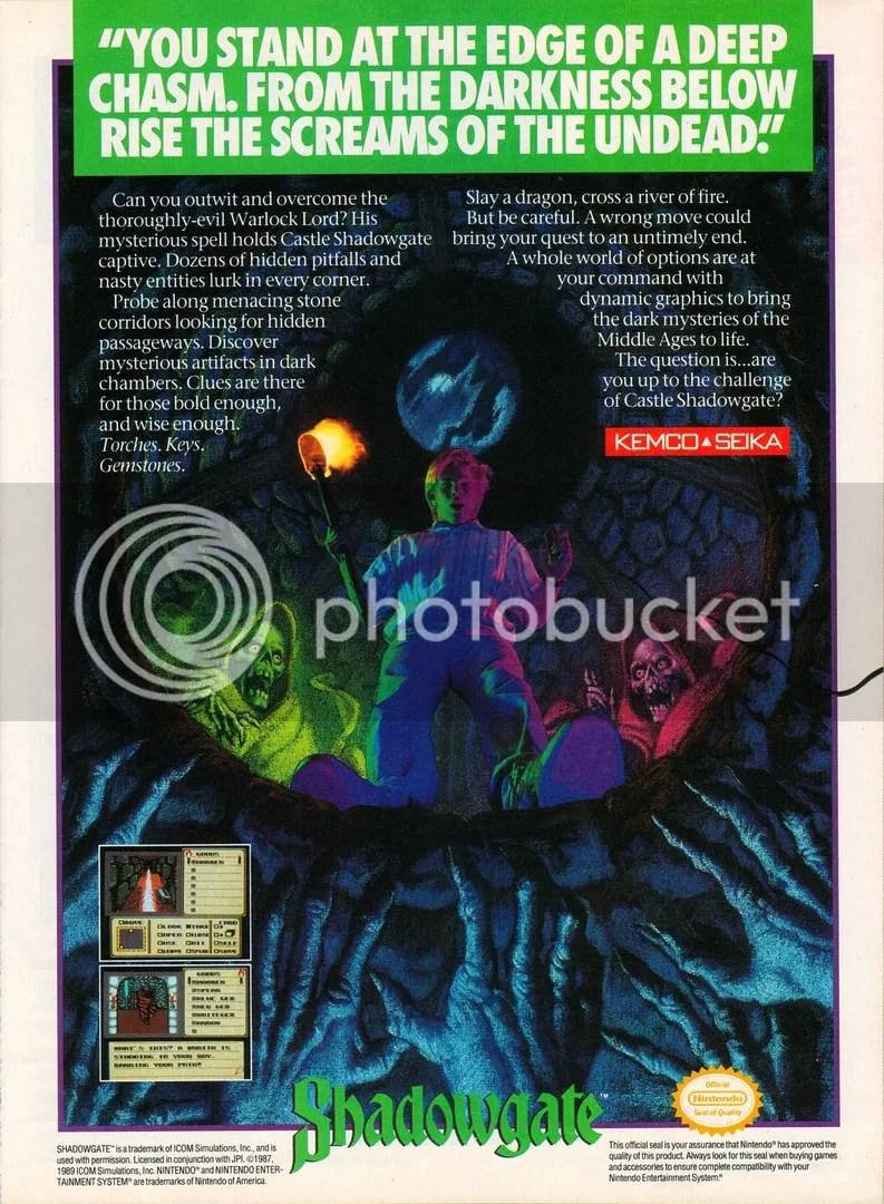 Shadowgate 1990 ad